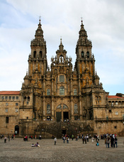 Die Jakobus-Kathedrale von Santiago: Ziel aller Fuß- und Rad-Pilger auf dem Camino