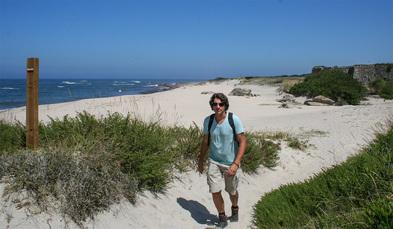 Forte de Paco: Bei gutem Wetter kann an der Strandvariante des Caminhos gewandert werden