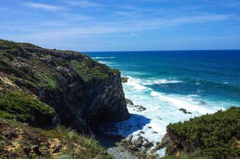 Dramatische Kliffs rund um das Kap San Vicente