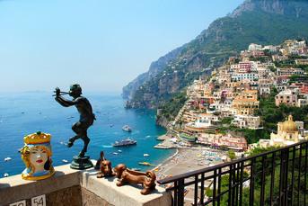 So sieht Positano von oben aus...