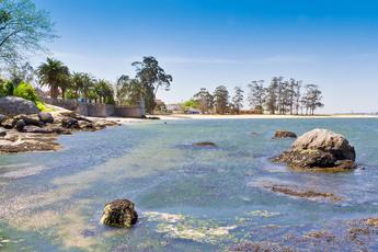 "Hinter Vilanova de Arousa passieren Sie den ""Playa de Sinas"" (8. Tag). Baden ausdrücklich erlaubt!"