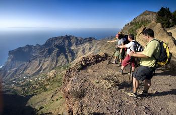 Panorama pur haben Sie auf der 3. Wanderung im Norden La Gomeras
