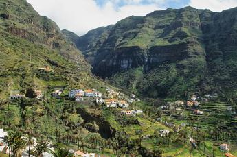 So sieht das Valle Gran Rey im oberen Teil aus (6. Wanderung)