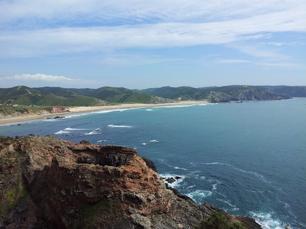 So sieht der Blick auf die Küste aus....