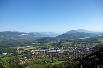 Auf der Etappe von Seyssel nach Chanaz gibt es dieses herrliche Panorama mit dem Rhône-Tal