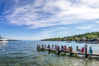 So schön kann Pilgern sein: Der Starnberger See, Startpunkt des 1. Blockes