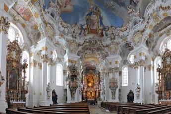 """""""Ein vom Himmel gefallenes Kleinod"""": UNESCO-Weltkulturerbe Wieskirche."""