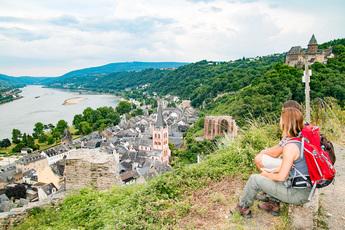 Lohn der Aufstiegsmühen sind immer wieder fantastische Rhein-Panoramen