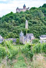 Blick über die Weinberge nach Bacharach