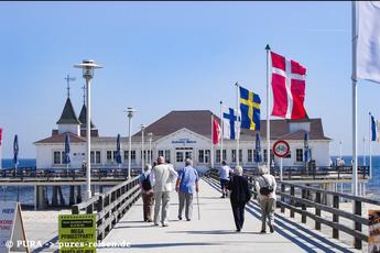 Berühmtes Highlight: Die Seebrücke von Ahlbeck passieren Sie auf Ihrem Weg zum letzten Hotel.
