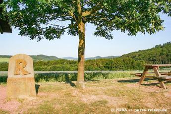 Typisch für den Rennsteig sind die historischen Wappensteine. Nicht umsonst gilt der Rennsteig als der älteste Fernwanderweg Deutschlands.