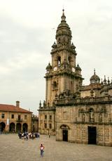 Geschafft! Die Jakobus-Kathedrale in Santiago, zur Abwechslung mal von hinten
