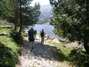 5. Tag: In einem Nebental Wanderung durch schattige Wälder und entlang des Stausee Senet