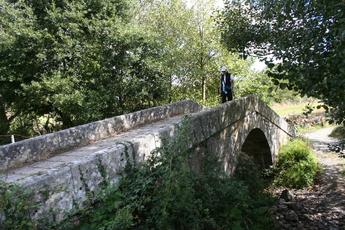 Historische Brücke auf der Etappe von Palas de Rei nach Melide