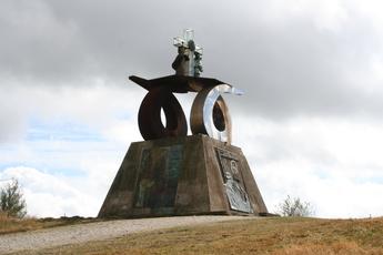 Das Denkmal am Monte del Gozo zu Ehren von Papst Johannes Paul II