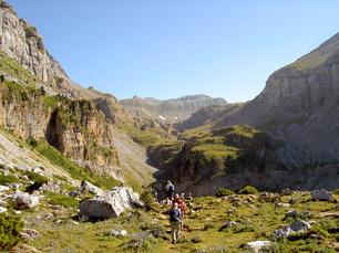 An der Grenze von Spanien und Frankreich im Linzara-Tal