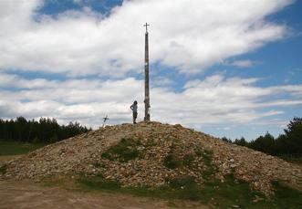 Cruz de Ferro zwischen Rabanal und Molinaseca