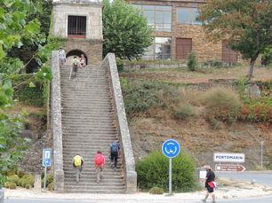 Die Treppen von Portomarin