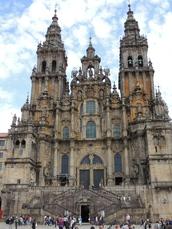 Das Ziel. Die Jakobus-Kathedrale von Santiago
