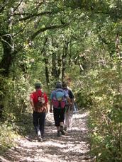 Wanderer auf der Via Podiensis