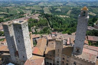 Ausblick aus einer der Türme in San Gimignano
