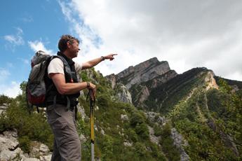 Wanderführer Stephan Isenmann erklärt den Anisclo-Canyon