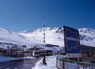 Grenzübergang nach Andorra bei Pas de la Casa