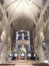 Innenansicht der Klosterkirche in Roncesvalles