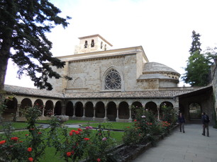 Innenhof der Kirche San Pedro de la Rua in Estella