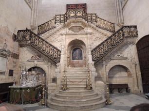 Treppe in der Kathedrale von Burgos