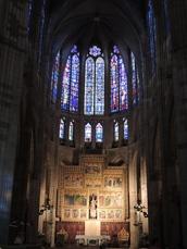 Innenansicht der Kathedrale von León