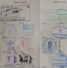 Pilgerausweis mit Stempeln