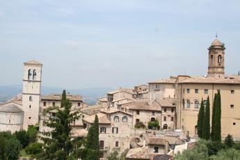 Ausblick auf Assisi