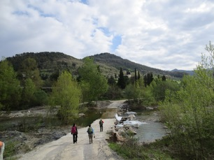 Wanderer in der Nähe von Pieve Santo Stefano
