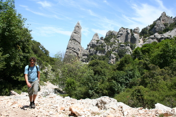 Typisch für den Naturpark Golfo di Orosei: Felsnadeln