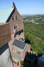 Der Blick von der Wartburg Richtung Eisenach ist aber auch aller Ehren wert!