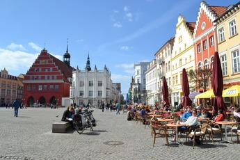 Der Marktplatz von Greifswald