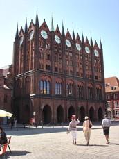 Südseite des Stralsunder Rathauses