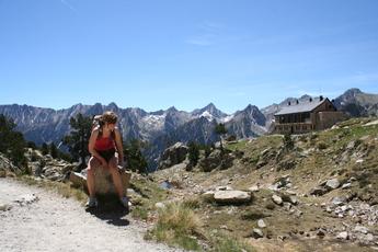 Bei der Amitges-Hütte im Aigüestortes-Nationalpark