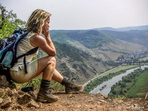 Blick vom Höhenzug Calmont auf die Mosel